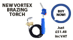 The VTH is the newest generation of Vortex brazing torches which comes with a 5' flexible braided hose.