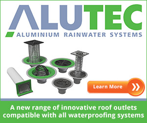 Marley Alutec has developed a revolutionary range of aluminium roof and balcony drainage outlets compatible with all waterproofing membranes and roof build-ups.
