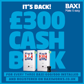 Baxi's amazing cashback offer returns!